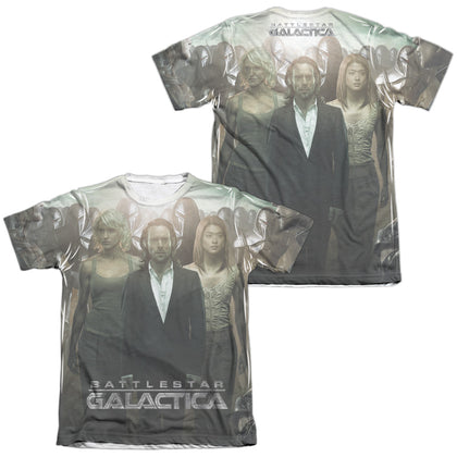 Battlestar Galactica Destiny Walk (Front/Back Print) Men's Regular Fit Poly Cotton SS T