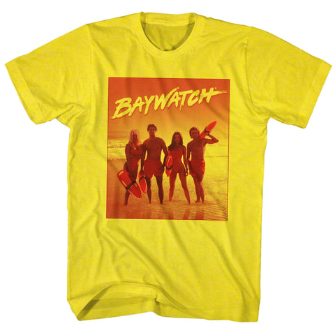 Baywatch Special Order Orange Adult S/S T-Shirt