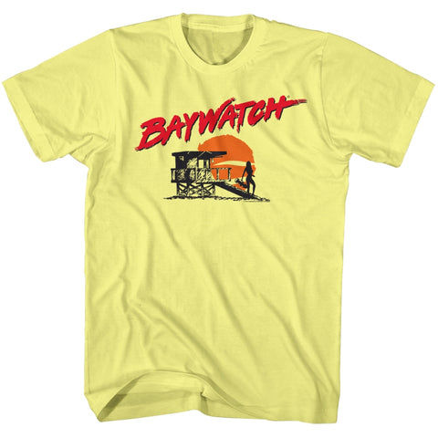 Baywatch Special Order Silhouette Adult S/S T-Shirt
