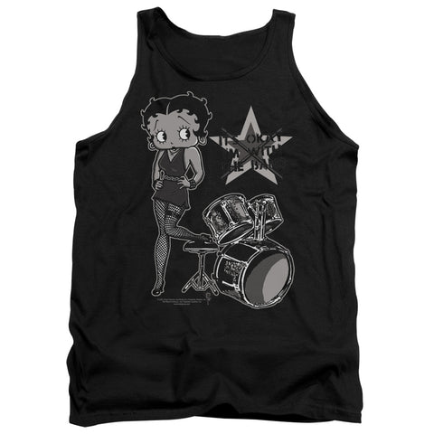 Betty Boop With The Band Men's 18/1 Cotton Tank Top