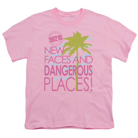 Beverly Hills 90210 Tagline Youth 18/1 100% Cotton SS T