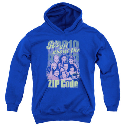 Beverly Hills 90210 Zip Code Youth Cotton Poly Pull-Over Hoodie