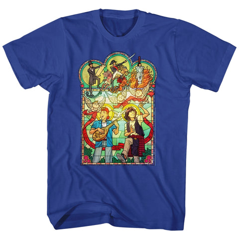 Bill And Ted Special Order Stained Glass Adult S/S T-Shirt