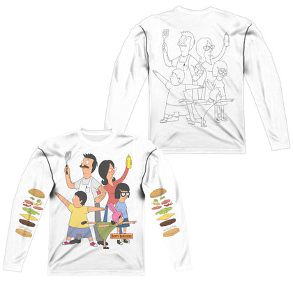 Bob'S Burgers Hero Pose (Front/Back Print) Men's Regular Fit Polyester LS T