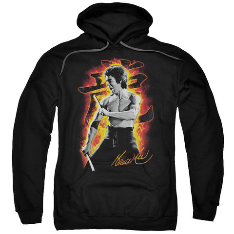 Bruce Lee Dragon Fire Men's Pull-Over 75 25 Poly Hoodie