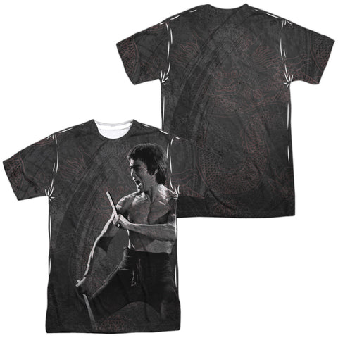 Bruce Lee Dragon Print Men's Regular Fit Polyester SS T