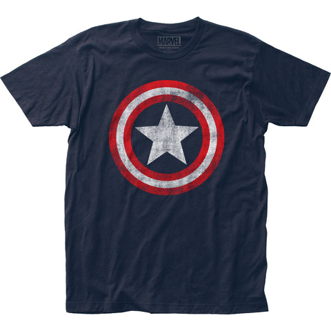 Captain America Distressed Shield fitted jersey tee - Men's - 100% Cotton