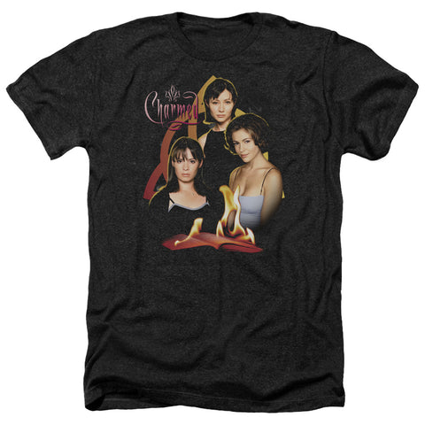Charmed Original Three Men's 30/1 Heather 60 40 Poly SS T