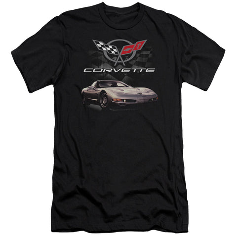 Chevrolet Checkered Past Men's 30/1 Cotton Slim SS T