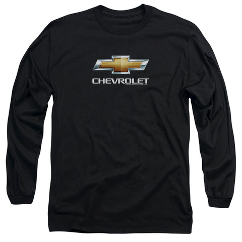 Chevrolet Chevy Bowtie Stacked Men's 18/1 Cotton LS T