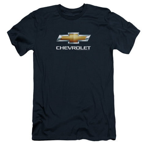 Chevrolet Chevy Bowtie Stacked Men's 30/1 Cotton Slim SS T