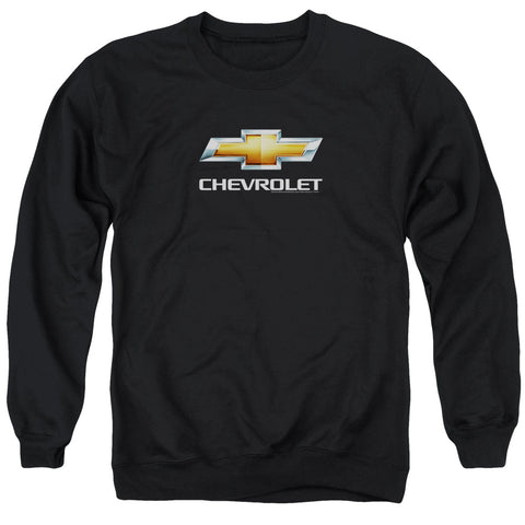 Chevrolet Chevy Bowtie Stacked Men's Crewneck 50 50 Poly LS T