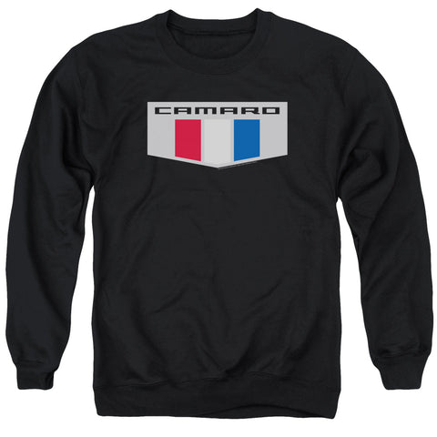 Chevrolet Chrome Emblem Men's Crewneck 50 50 Poly LS T