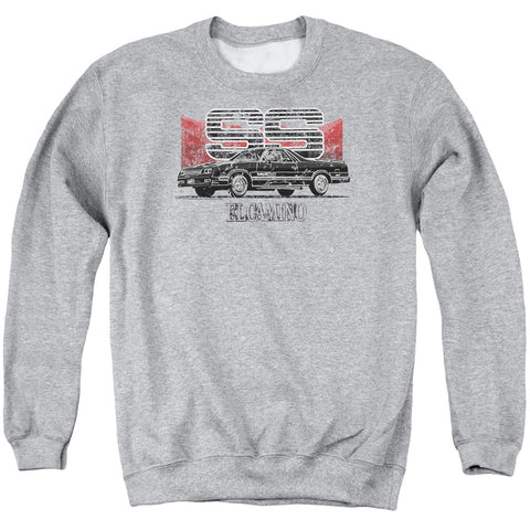 Chevrolet El Camino Ss Mountains Men's Crewneck 50 50 Poly LS T