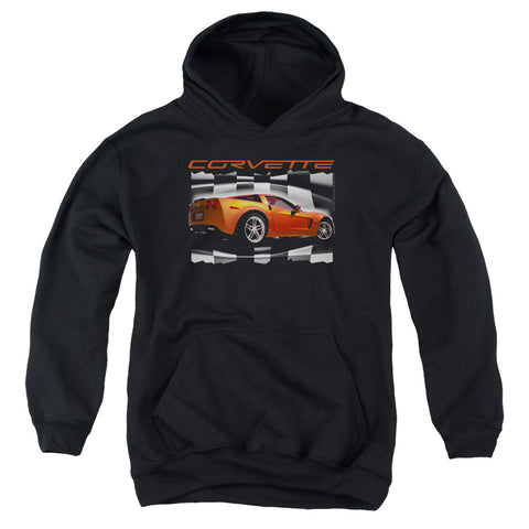 Chevrolet Orange Z06 Vette Youth Cotton Poly Pull-Over Hoodie