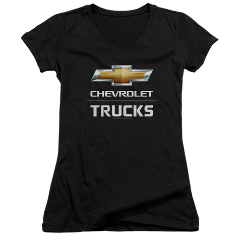 Chevrolet Trucks Junior's 30/1 Cotton Cap-Sleeve V-Neck T