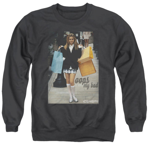 Clueless Oops My Bad Men's Crewneck 50 50 Poly LS T