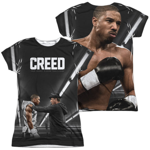 Creed Poster (Front/Back Print) Junior's Poly Cap-Sleeve T