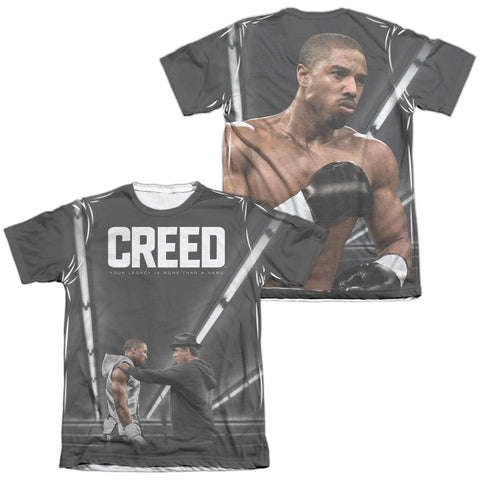 Creed Poster (Front/Back Print) Men's Regular Fit Poly Cotton SS T