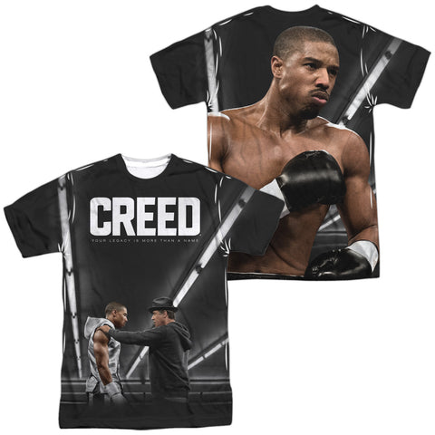 Creed Poster (Front/Back Print) Men's Regular Fit Polyester SS T