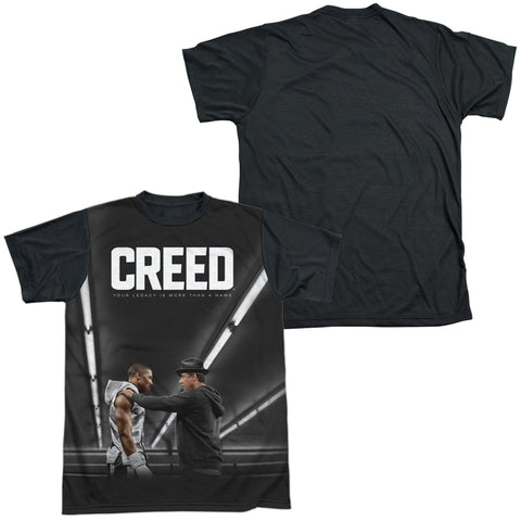 Creed Poster Men's Black Back Regular Fit Poly SS T