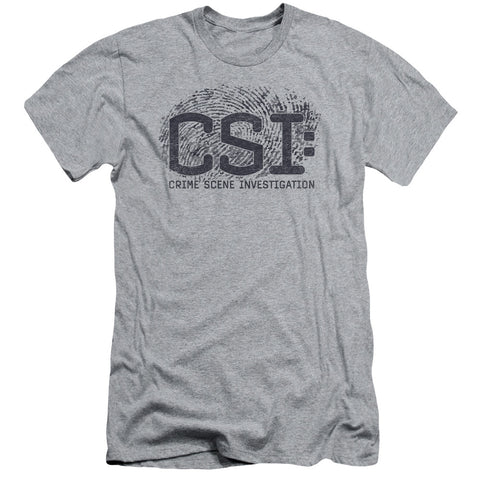 CSI Distressed Logo Men's 30/1 Cotton Slim SS T