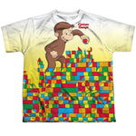 Curious George Building Blocks Youth Regular Fit Poly SS T