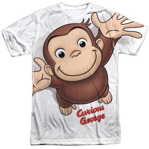 Curious George Hands In The Air Men's Regular Fit Polyester SS T