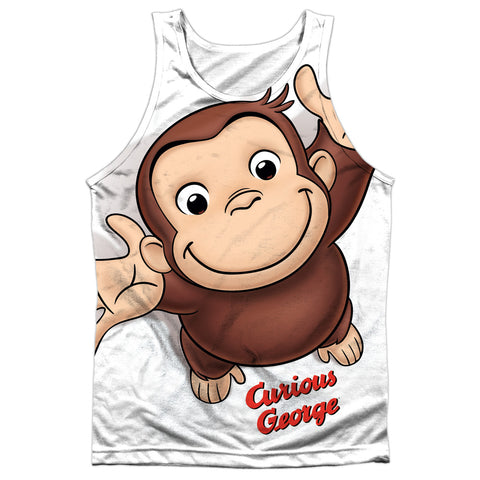 Curious George Hands In The Air Men's Regular Fit Polyester Tank Top