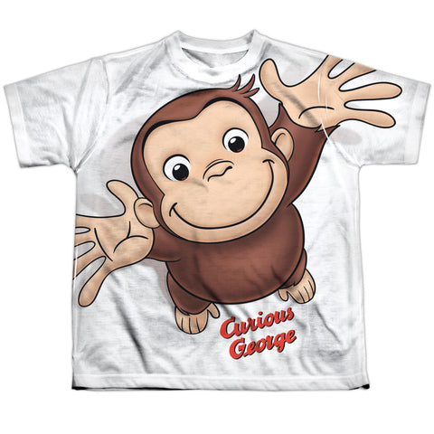 Curious George Hands In The Air Youth Regular Fit Poly SS T