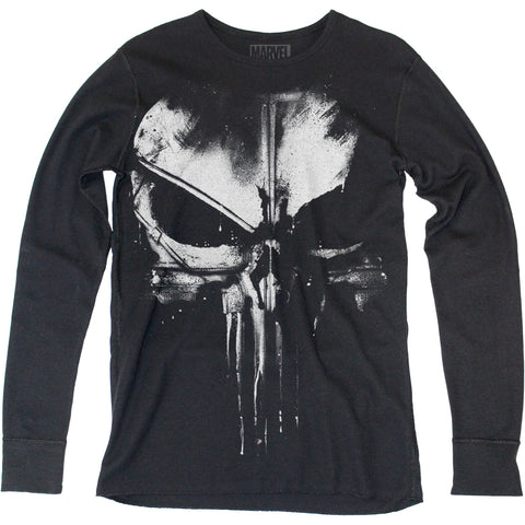 Daredevil Distressed Punisher thermal long sleeve - Men's - 60% Cotton 40% Poly
