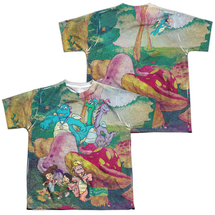 Dragon Tales Mushroom Meadow (Front/Back Print) Youth Regular Fit Poly SS T