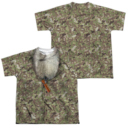 Duck Dynasty Camo Costume (Front/Back Print) Youth Regular Fit Poly SS T