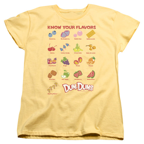 Dum Dums Flavors Women's 18/1 Cotton SS T