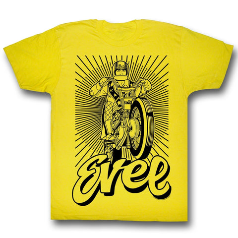 Evel Knievel Special Order Black And Yellow Adult S/S T-Shirt
