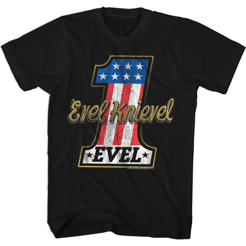 Evel Knievel Special Order Evelone Adult S/S T-Shirt
