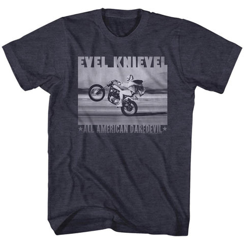 Evel Knievel Special Order Fade Daredevil2 Adult S/S T-Shirt