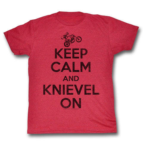 Evel Knievel Special Order Keep Calm Adult S/S T-Shirt