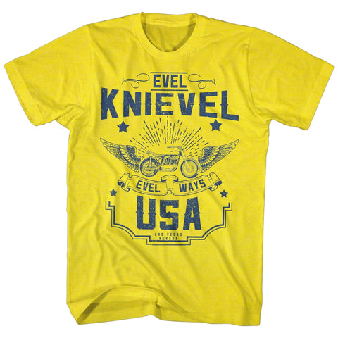 Evel Knievel Special Order Old Knievel Adult S/S T-Shirt