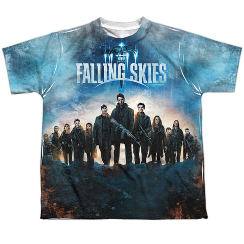 Falling Skies Battle Youth Regular Fit Poly SS T
