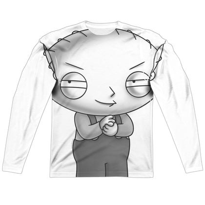 Family Guy Stewie Head Men's Regular Fit Polyester LS T