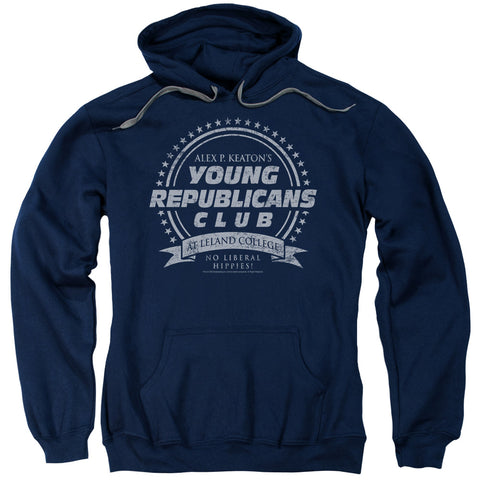 Family Ties Young Republicans Club Men's Pull-Over 75 25 Poly Hoodie