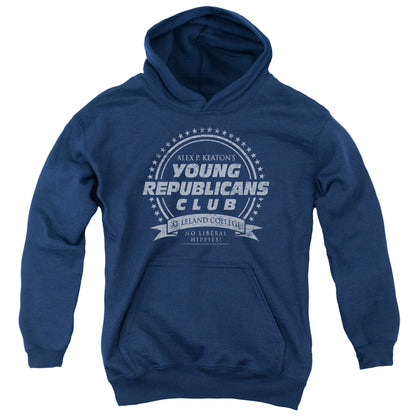 Family Ties Young Republicans Club Youth Cotton Poly Pull-Over Hoodie