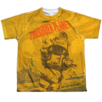 Forbidden Planet Strange World Youth Regular Fit Poly SS T
