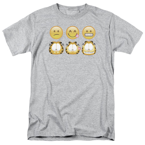 Garfield Emojis Men's 18/1 Cotton SS T