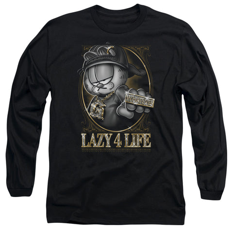 Garfield Lazy 4 Life Men's 18/1 Cotton LS T