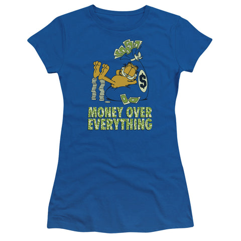 Garfield Money Is Everything Junior's 30/1 Cotton Cap-Sleeve T