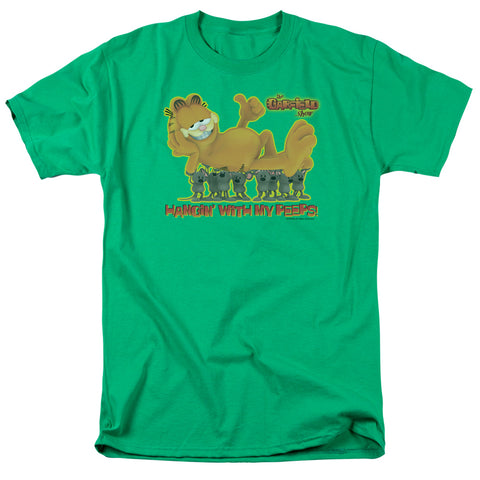 Garfield My Peeps Men's 18/1 Cotton SS T