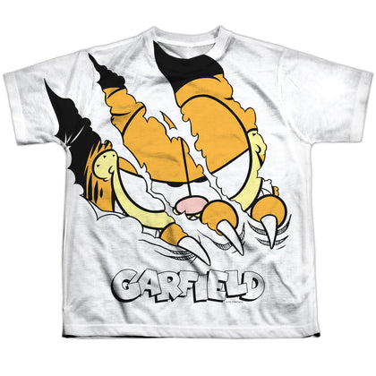 Garfield Torn Youth Regular Fit Poly SS T