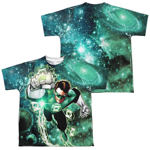 Green Lantern Galactic Hal (Front/Back Print) Youth Regular Fit Poly SS T